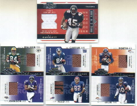 2002 Playoff Honors #209 T.J. Duckett JSY RC