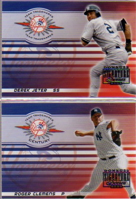 2003 Donruss Signature Team Trademarks Century #28 Roger Clemens Yanks