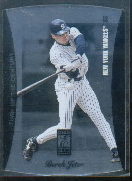 1997 Donruss Elite Turn of the Century Die Cuts #7 Derek Jeter
