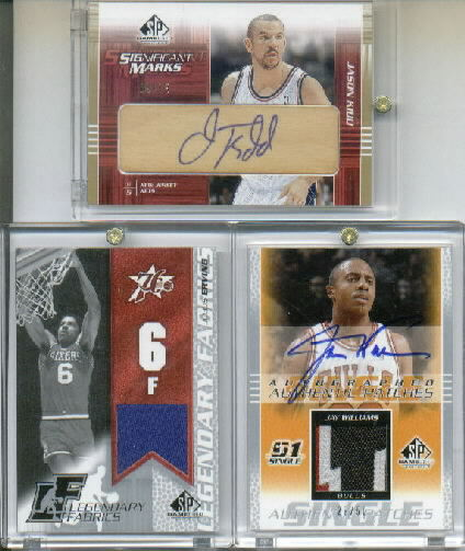 2003-04 SP Game Used Authentic Patches Autographs #JWAP Jay Williams