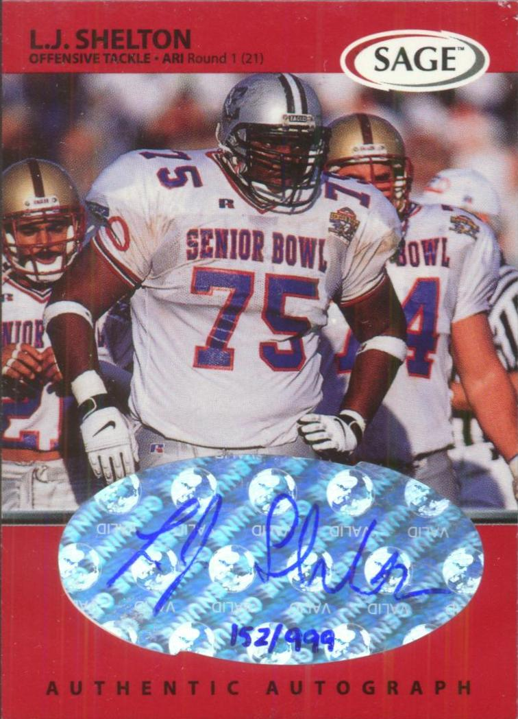 1999 SAGE Autographs Red #A44 L.J. Shelton/999