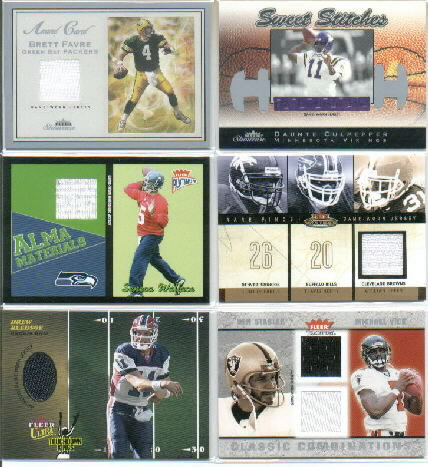 2003 Fleer Tradition Classic Combinations Memorabilia Duals #14 Ken Stabler/Michael Vick