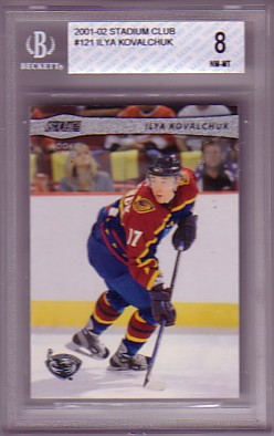 2001-02 Stadium Club #121 Ilya Kovalchuk BGS-8.0 RC ROOKIE NM/MT Atlanta Thrashers
