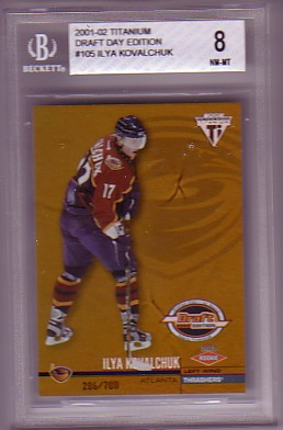 2001-02 Titanium Draft Day Edition #105 Ilya Kovalchuk BGS-8.0 NM/MT RC ROOKIE Atlanta Thrashers