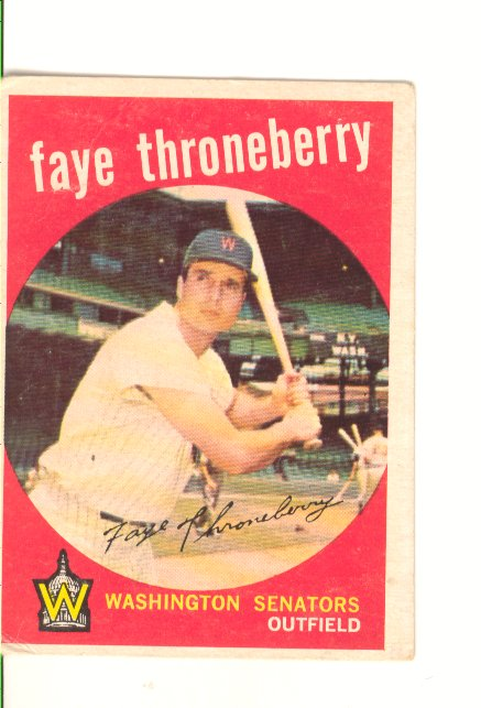 1959 Topps #534 Faye Throneberry front image