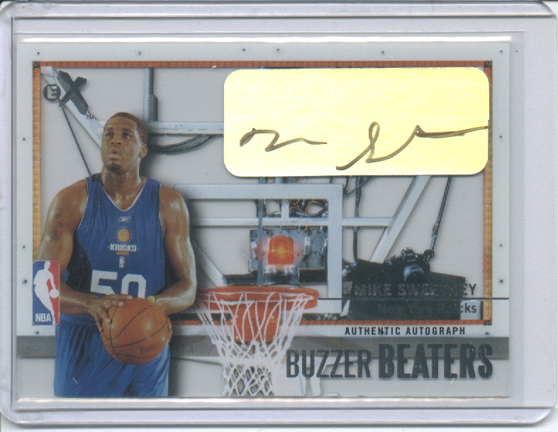 2003-04 E-X Buzzer Beaters Autographs #8 Mike Sweetney/299