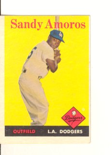 1958 Topps #93 Sandy Amoros
