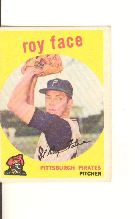 1959 Topps #339 Roy Face
