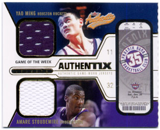 2003-04 Fleer Authentix Jersey Authentix Game of the Week #2 Yao Ming/Amare Stoudemire