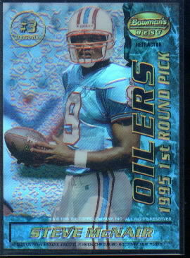 1995 Bowman's Best Mirror Images Draft Picks Refractors #3 Steve McNair/Shuler