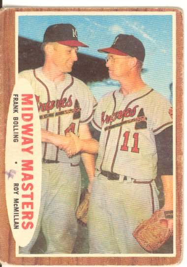 1962 Topps #211 Midway Masters/Frank Bolling/Roy McMillan front image