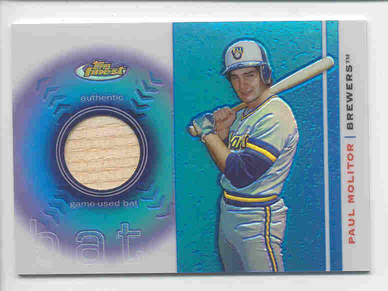 2003 Finest Bat Relics #PM Paul Molitor C