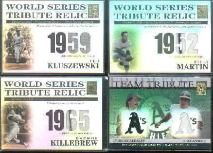 2003 Topps Tribute World Series Team Tribute Relics #EC Dennis Eckersley Jsy/Jose Canseco Jsy B