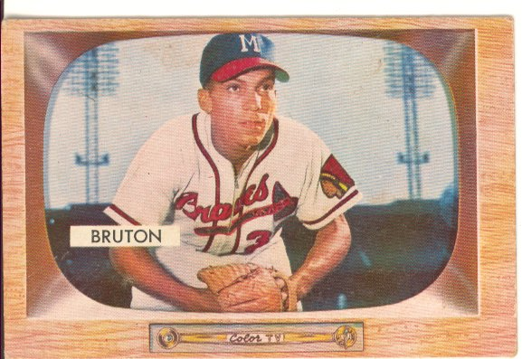 1955 Bowman #11 Bill Bruton