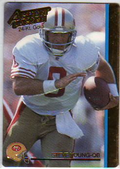 1992 Action Packed 24K Gold #38G Steve Young