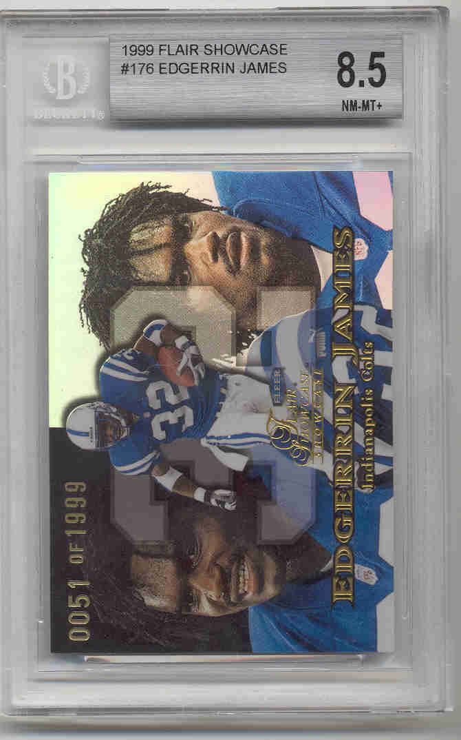 Edgerrin James 1999 Flair Showcase BGS Grade 8.5 0051/1999