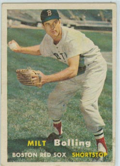 1957 Topps #131 Milt Bolling