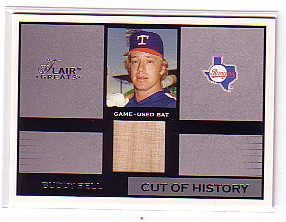2003 Flair Greats Cut of History Game Used #3 Buddy Bell Bat