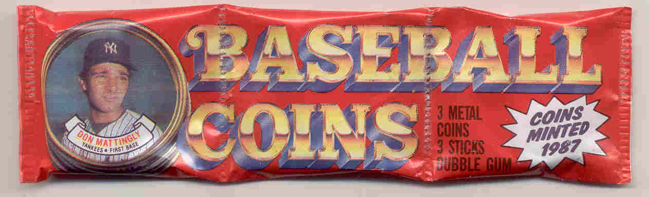 1987 Topps Coins Baseball Pack  3 Coins per Pack