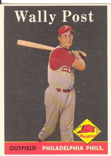 1958 Topps #387 Wally Post front image