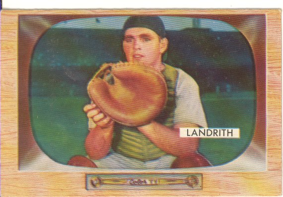 1955 Bowman #50 Hobie Landrith front image