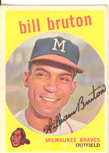 1959 Topps #165 Bill Bruton front image