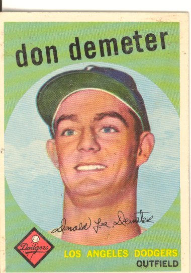 1959 Topps #324 Don Demeter