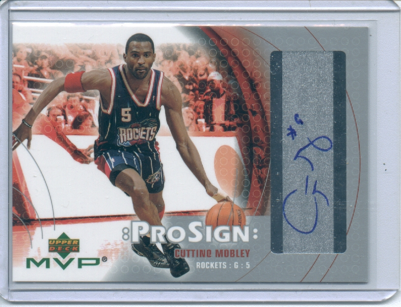 2003-04 Upper Deck MVP ProSign #CM Cuttino Mobley