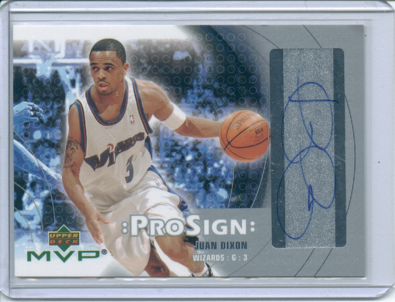 2003-04 Upper Deck MVP ProSign #JD Juan Dixon