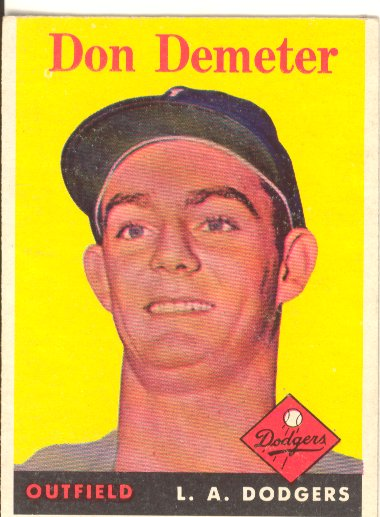 1958 Topps #244 Don Demeter RC