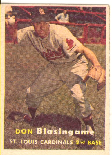 1957 Topps #47 Don Blasingame