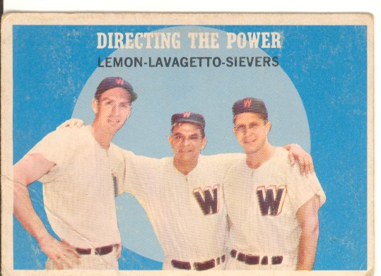 1959 Topps #74 Directing the Power/Jim Lemon/Cookie Lavagetto MG/Roy Sievers