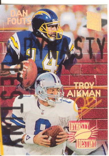 1994 Stadium Club Dynasty and Destiny #4 Troy Aikman/Dan Fouts