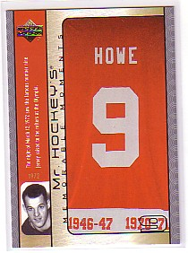 2003-04 Upper Deck Mr. Hockey #GH15 Gordie Howe