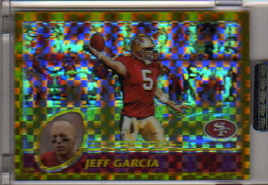 2003 Topps Chrome Gold Xfractors #51 Jeff Garcia