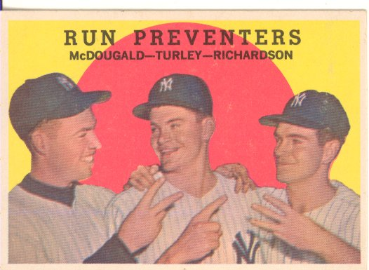 1959 Topps #237 Run Preventers/Gil McDougald/Bob Turley/Bobby Richardson