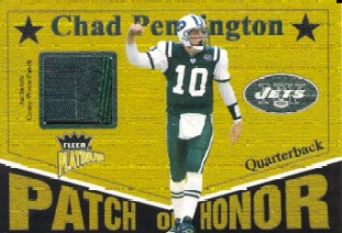 2003 Fleer Platinum Patch of Honor #PHCP2 Chad Pennington/219