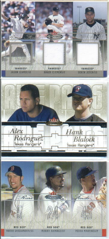 2003 Fleer Mystique Awe Pairs Gold #7 A.Rodriguez/H.Blalock/71