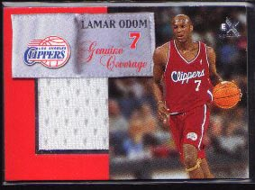 1999-00 E-X Genuine Coverage Jersey, Lamar Odom