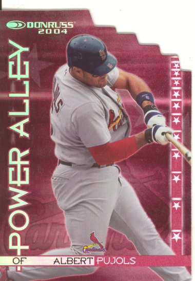 2004 Donruss Power Alley Red Die Cut #1 Albert Pujols