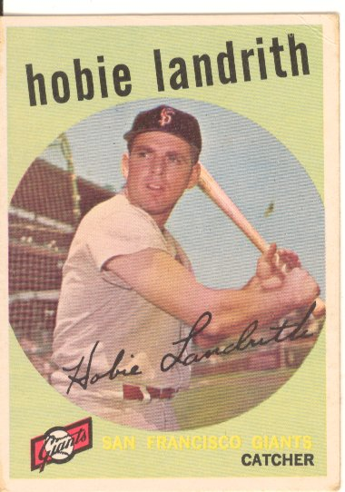 1959 Topps #422 Hobie Landrith