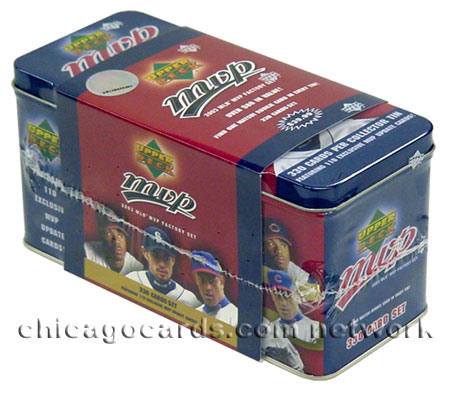 2003 Upper Deck MLB MVP Baseball Complete Tin Set, 330 Cards Including Matsui Rookie Card & 110 Exclusive Update Cards, Factory Sealed, *** In Stock ***