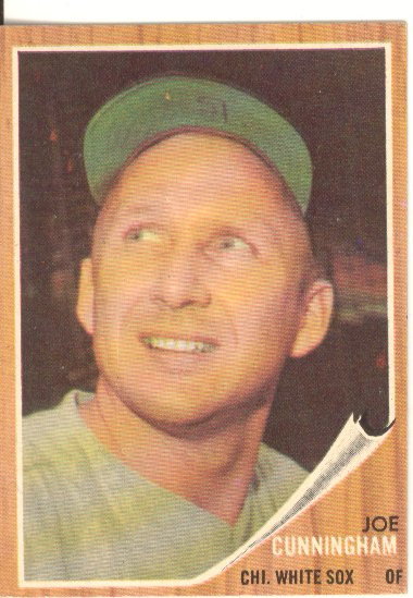 1962 Topps #195A Joe Cunningham/Green Tint front image
