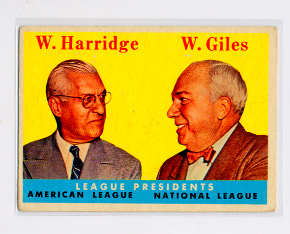 1958 Topps #300 League Presidents/Will Harridge/Warren Giles