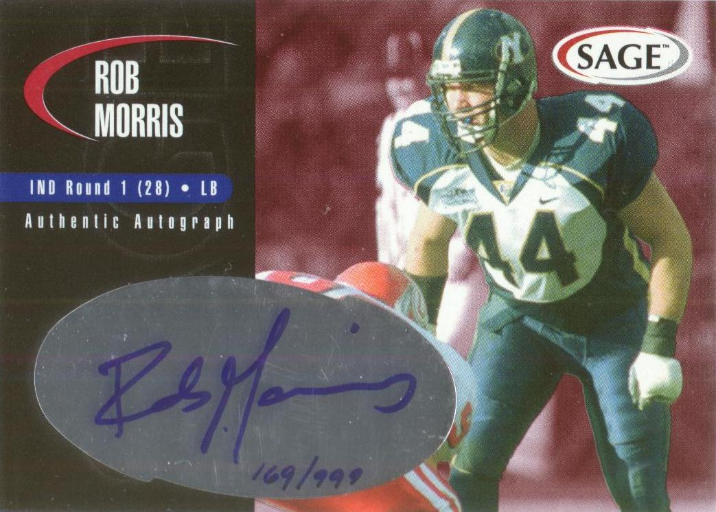 2000 SAGE Autographs Red #A29 Rob Morris/999