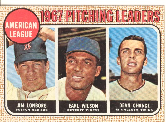 1968 Topps #10B AL Pitching Leaders/Jim Lonborg COR/Earl Wilson/Dean Chance