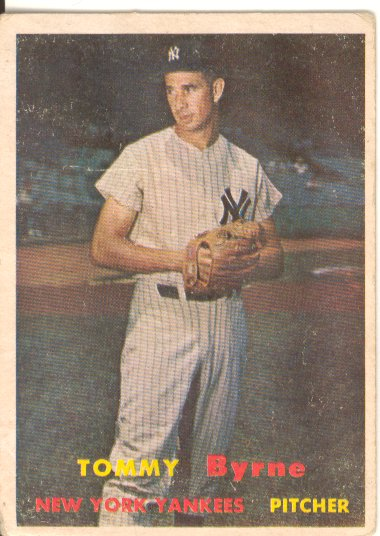 1957 Topps #108 Tommy Byrne