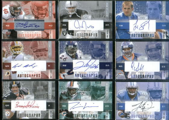 2003 Upper Deck Finite Autographs #BB Brad Banks/1000