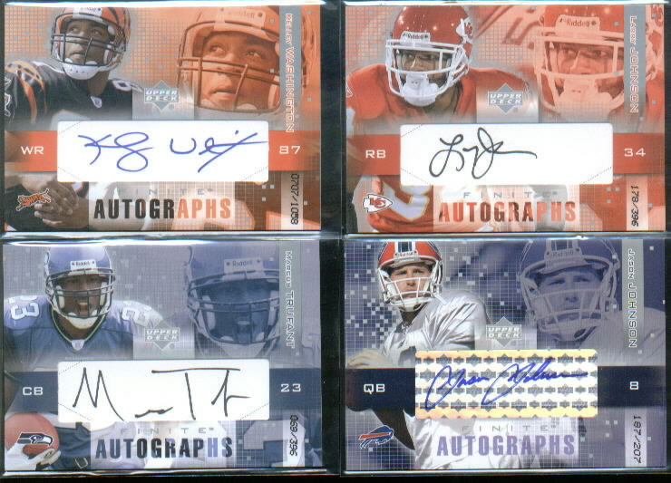 2003 Upper Deck Finite Autographs #JA Jason Johnson/205