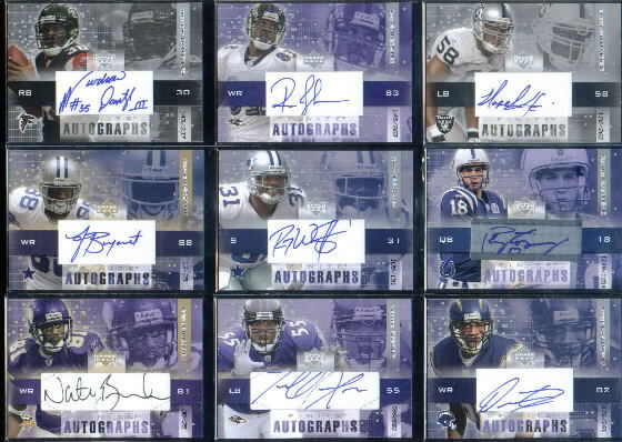 2003 Upper Deck Finite Autographs #RC Reche Caldwell/261